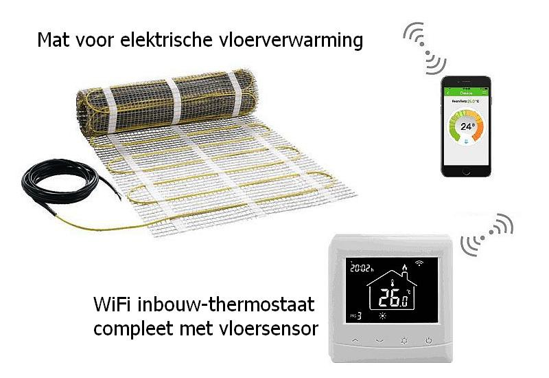 Vloerverwarming Elektrisch Wifi Temperatuur Regeling Dugoshop