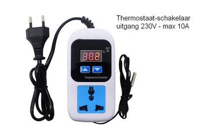 Thermostaat-schakelaar 230 Volt