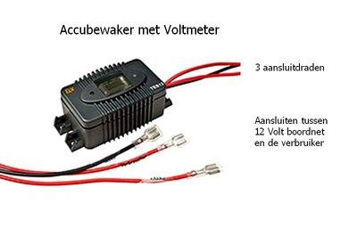 Accubewaker met Voltmeter