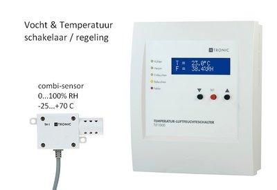 Vocht-temperatuur-schakelaar